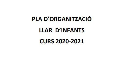 pla 'dorganització llar d'infants curs 2020-2021